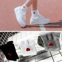 Kawaii Women Heart Pattern Soft Breathable Ankle-High Casual Cotton Socks /LK