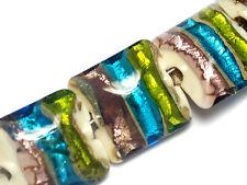 Grace Lampwork Beads Handmade Glass Bead SRA  10302804 - Seven Ivory w/Multi-Col
