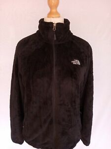 NORTH FACE FLUFFY FLEECE JACKET LADIES LARGE AUTHENTIC BLACK GOOD CONDITION