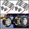 8Pcs Car Truck Steel Snow Tire Chains Anti-skid Winter Emergency Belt Gloves US#