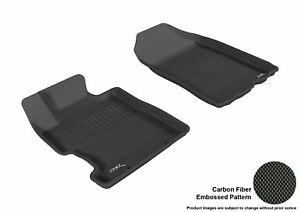 Fits 2006-2011 Honda Civic Row 1 KAGU Carbon Pattern Black Customize Floor Mat