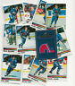 1990-91 Panini Hockey card stickers Quebec Nordiques Lot of 12 with Joe Sakic