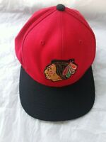 NHL Mitchell and Ness  Red Chicago Blackhawks SnapBack Hat Cap