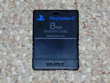 Official Sony Playstation 2 PS2 Black Memory Card 8MB SCPH-10020 Magic Gate OEM