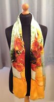 100% pure silk scarf (Van Gogh 'sunflowers')gift/xmas wrapping available160x42cm