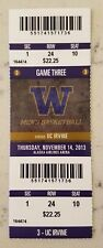 Washington Huskies Uc Irvine Anteaters Basketball Ticket 11/14 2013 Ndiaye Stub