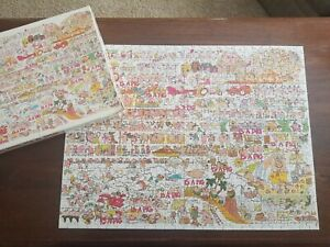 """Vintage 1980 """"A Pig Is A Pig"""" Jigsaw Puzzle Sue Sturgill COMPLETE 18 X 24"""