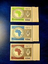 Sudan Stamps Set, 1989 African Development Bank 25Th Anniversary, Sc#375-377