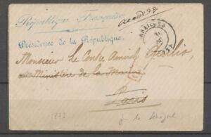 1871, Versailles, env. pour le CONTRE-AMIRAL QUILIO, réexpédiée X3928