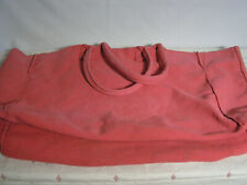 "Restoration Hardware Huge Canvas Tote Bag 24"" x 21"" Coral Inside Zipper Pocket"