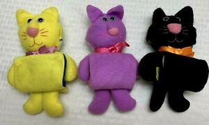 Vintage Hallmark Purr Tenders Sockems 1987 Cat Bunny Chick 3 Piece Lot