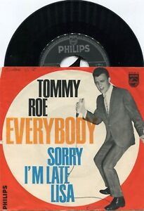 Single Tommy Roe: Everybody / Sorry I´m Late, Lisa  (Philips 320046 BF) D