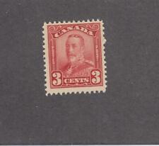 CANADA # 151  FVF-MNH 3cts 1928 KING GEORGE V SCROLL /DARK CARMINE CAT VALUE $60