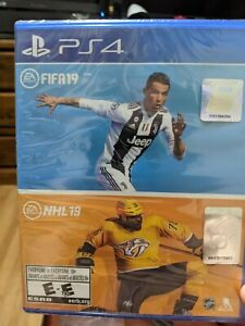 FIFA 19 & NHL 19 Bundle Pack PS4 **Brand New Sealed** (S1)