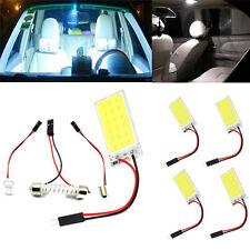 5pcs Xenon HID White COB 18-LED  Dome Map Light Bulb Car Interior Panel Lamp 12V