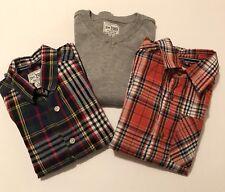 Lot Of 3 Childrens Place 2 Button Down Plaid Shirt & 1 Sweater  Boys S 5/6 euc