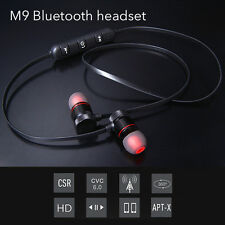 Magnetic Bluetooth V4.1 Wireless In-Ear Stereo Sports Headphone Gold & Black