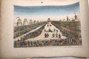 ANONYME  Vue d'optique - Couronnement de l'Empereur de la Chine.[circa 1790]