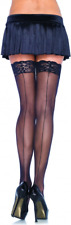 autoreggenti con riga Leg Avenue Lace Top Stockings