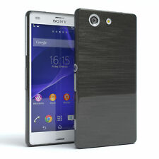 Schutz Hülle für Sony Xperia Z3 Compact Brushed Cover Handy Case Anthrazit
