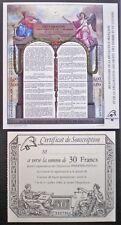 France Neuf**/MNH 1989 RÉVOLUTION FRANÇAISE SS + certificat de souscription