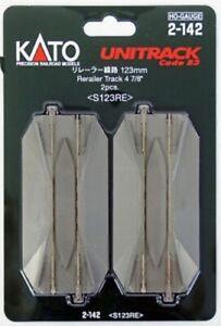 "NEW Kato Unitrack 123mm 4-7/8"" Road Crossing and Rerailer Track (2) HO Scale ..."