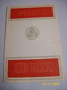 Alton Railroad Dinner Menu 1941