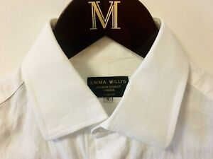 Emma Willis White Linen Shirt 15 Slim Fit