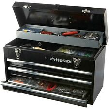 20 in. 3-Drawer Portable Tool Box Chest with Tray Drawer Slides Storage Organize