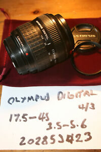 Olympus Zuiko 17.5-45mm F3.5-5.6 Digital Zoom Lens 4/3 Mount - DAMAGED COATING