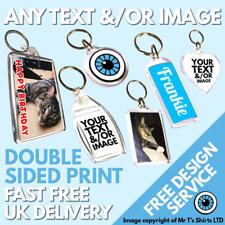 Custom Printed Key Ring Personalised Keyrings Family Photo Logo Kids Pet Keyring