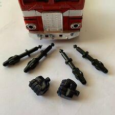 Optimus Prime 1980 1982 Vintage Hasbro Takara G1 Transformers Fists + 4 Missiles