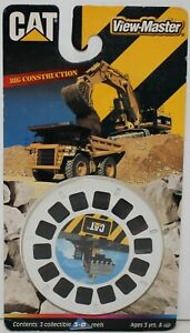 View-Master CAT Caterpillar Big Construction 3-D Reels sealed on card 1998 5432