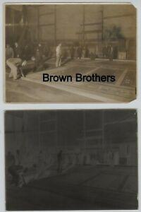 1920s NYC Hippodrome Theatre Stage Set up Crew Glass Negative & Photo Lot - BB