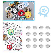 More details for 1000pcs/box 32mm metal&plastic diy blank pin badge button parts supplies uk