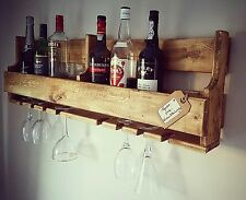 Large Bottle Wood Wine Rack Holder Storage Stand Organiser Wall Mounted