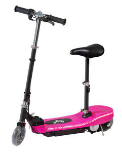 Kids 24v Battery Electric E Scooter Ride On Escooter LED Running Light Seat Pink