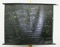 Schulwandkarte Weltkarte Europakarte Schiefertuch 130x105 vintage world map 1956
