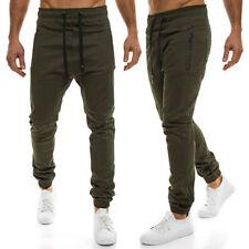 Pantaloni da uomo verde in misto cotone