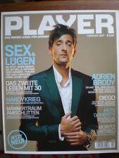PLAYER Magazin Für Männer Adrien Brody Pete Doherty Uschi Obermeyer 2007