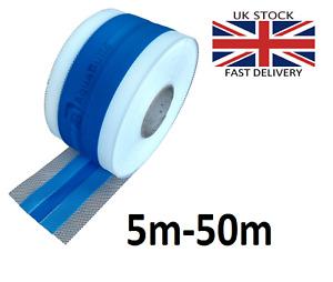 5m - 100m AQUA BUILD Waterproof Elastic Tanking Tape Wet Room System 1E-blue