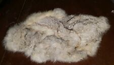 Vintage Real Rabbit Fur Hand Muff Pink Fabric Lined