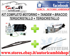 KIT MOTORINO TERGI + TANDEM + BRACCIO TERGICRISTALLO + TERGICRISTALLO FIAT PANDA