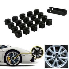 20x 17mm Glossy Black Car Wheel Lug Bolt Nut Cover Cap Puller Fit For VW Audi A4