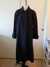 London Fog Black 100% Wool Button Down Full Length Coat Jacket w/ Pockets Size 4