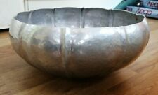 More details for large hand wrought aluminium fruit bowl mw laird? lovely condition 11