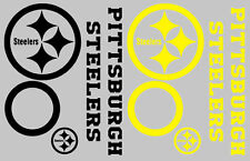 Pittsburgh Steelers Decal Set - 8 CORNHOLE Board Decals Vinyl Window Decal