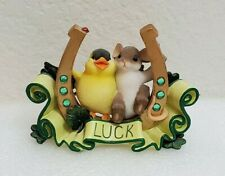 Charming Tails Luck Lucky To Be With You St Patrick's Mouse Bird Handcraft Gift