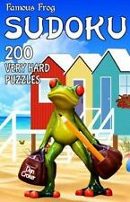 Travel Sudoku: Famous Frog Sudoku 200 Very Hard Puzzles with Solutions : A.
