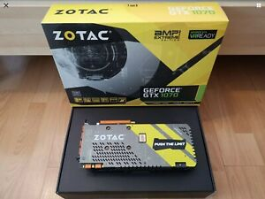ZOTAC GeForce GTX 1070 8GB Grafikkarte - ZT-P10700B-10P Amp Extreme Edition.Top!